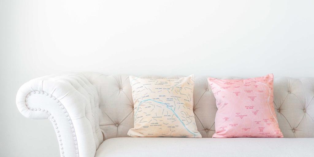Shop Map Pillows